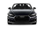 Car photography straight front view of a 2020 Audi A5-Cabriolet Premium 2 Door Convertible Front View
