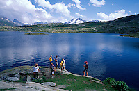 See am Oberalp-Pass, Graubünden, Schweiz