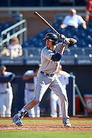 Mesa Solar Sox Bradley Zimmer (7), of the Cleveland Indians organization, during a game against the Peoria Javelinas on October 19, 2016 at Peoria Stadium in Peoria, Arizona.  Peoria defeated Mesa 2-1.  (Mike Janes/Four Seam Images)