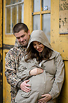 Expecting their third joyously with a chilly Mare Island maternity/family photo shoot.