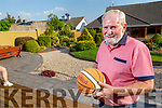 Seanie Burrows is the first inductee into the Basketball Hall of Fame pictured at home in Tralee on Monday.