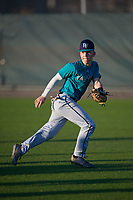 Tanner Powell (58), from Rosman, North Carolina, while playing for the Mariners during the Baseball Factory Pirate City Christmas Camp & Tournament on December 30, 2017 at Pirate City in Bradenton, Florida.  (Mike Janes/Four Seam Images)