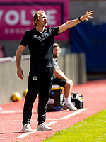 17th July 2021; Tynecastle Park, Edinburgh, Scotland;Pre Season Friendly Football, Heart of Midlothian versus Sunderland; Robbie Neilson manager of Hearts gets animated on the touchline