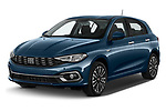 2021 Fiat Tipo Life 5 Door Hatchback Angular Front automotive stock photos of front three quarter view