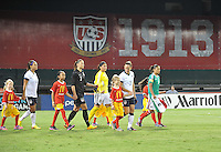 Team entering the game. The USWNT defeated Mexico 7-0 during an international friendly, at RFK Stadium, Tuesday September 3 , 2013.