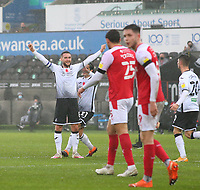 21st November 2020; Liberty Stadium, Swansea, Glamorgan, Wales; English Football League Championship Football, Swansea City versus Rotherham United; Matt Grimes of Swansea City celebrates after scoring his sides first goal making it 1-0 in the 28th minute