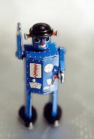 Antique toy tin robot...