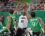 David Eng, Rio 2016 - Wheelchair Basketball // Basketball en fauteuil roulant.<br /> Canada vs. Algeria in men's Wheelchair Basketball // Le Canada contre l'Algérie en basketball en fauteuil roulant masculin . 14/09/2016.