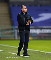 2nd January 2021; Liberty Stadium, Swansea, Glamorgan, Wales; English Football League Championship Football, Swansea City versus Watford; Steve Cooper manager of Swansea City gestures to his players