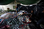 Residents of about 20 in San Jose El Recreo, San Marcos sleep in a makeshift tent after a 7.4 earthquake struck Guatemala Wednesday Nov. 7.