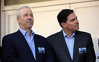 Pictured L-R: Steve Kaplan and Jason Levien Tuesday 04 April 2017<br />Re: Official opening of the Fairwood Training Complex of Swansea City FC, Wales, UK