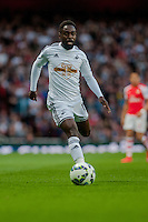 LONDON, ENGLAND - MAY 11 Nathan Dyer of Swansea City  in action during  to the Premier League match between Arsenal and Swansea City at Emirates Stadium on May 11, 2015 in London, England.  (Photo by Athena Pictures/Getty Images)