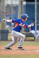 New York Mets catcher Cam Maron (26) during a minor league spring training game against the St. Louis Cardinals on March 27, 2014 at the Port St. Lucie Training Complex in Port St. Lucie, Florida.  (Mike Janes/Four Seam Images)