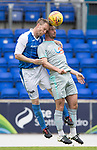 St Johnstone v Hartlepool…22.07.17… McDiarmid Park… Pre-Season Friendly<br />Steven Anderson gets above Padraig Amond<br />Picture by Graeme Hart.<br />Copyright Perthshire Picture Agency<br />Tel: 01738 623350  Mobile: 07990 594431