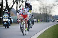 race leaders Alexander Kristoff (NOR/Katusha) & Niki Terpstra (NLD/Etixx-QuickStep) in the final 5km<br /> <br /> 99th Ronde van Vlaanderen 2015