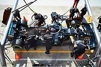 31st October 2020, Imola, Italy; FIA Formula 1 Grand Prix Emilia Romagna, Qualifying;  44 Lewis Hamilton GBR, Mercedes-AMG Petronas Formula One Team, pit stop practise