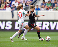 Dinora Garza, Amy Rodriguez. The USWNT defeated Mexico, 1-0, during the game at Red Bull Arena in Harrison, NJ.