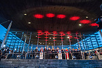 Wales's national rugby team who won both the Six Nations and the Grand Slam are welcomed to the National Assembly for Wales Senedd building in Cardiff Bay today for a public celebration event.