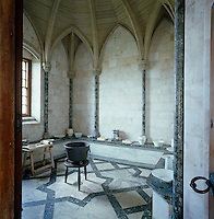 In the rib vaulted dairy, marble and alabaster from seven different countries were used in its decoration