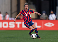 EAST HARTFORD, CT - JULY 5: Emily Sonnett #14 of the USWNT dribbles the ball during a game between Mexico and USWNT at Rentschler Field on July 5, 2021 in East Hartford, Connecticut.