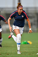 Lakewood Ranch, FL - Wednesday, October 10, 2018:   Talia DellaPeruta warms up prior to a U-17 USWNT match against Colombia.  The U-17 USWNT defeated Colombia 4-1.