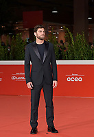 """Italian actor Filippo Contri poses on the red carpet for the movie """"Vita da Carlo"""" at the 16th edition of the Rome Film Fest in Rome, on October 22, 2021.<br /> UPDATE IMAGES PRESS/Isabella Bonotto"""