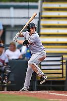 Jupiter Hammerheads catcher Chadd Krist (6) at bat during a game against the Bradenton Marauders on April 17, 2015 at McKechnie Field in Bradenton, Florida.  Bradenton defeated Jupiter 11-6.  (Mike Janes/Four Seam Images)