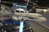 - stand of the Russian company Sukhoi, models of airliners....- stand della ditta russa Sukhoi, modelli di aerei di linea