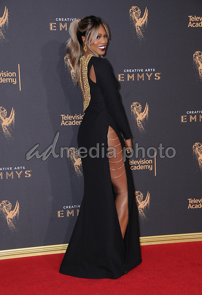 10 September  2017 - Los Angeles, California - Laverne Cox. 2017 Creative Arts Emmys - Arrivals held at Microsoft Theatre L.A. Live in Los Angeles. Photo Credit: Birdie Thompson/AdMedia