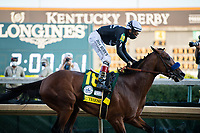 5th September 202, Louisville, KY, USA; Authentic and jockey John Velazquez (18) wins the 146th Kentucky Derby on September 5, 2020 at Churchill Downs in Louisville, KY.