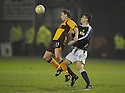 11/02/2008    Copyright Pic: James Stewart.File Name : sct_jspa05_motherwell_v_dundee.ROSS MCCORMACK IS CHALLENGED FROM BEHIND BY MILAN PALENIK.James Stewart Photo Agency 19 Carronlea Drive, Falkirk. FK2 8DN      Vat Reg No. 607 6932 25.Studio      : +44 (0)1324 611191 .Mobile      : +44 (0)7721 416997.E-mail  :  jim@jspa.co.uk.If you require further information then contact Jim Stewart on any of the numbers above........