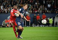 Clement CHANTOME (psg) - Ali AHAMADA (tou) .Parigi 17/9/2012.Football Calcio 2012/2013 Ligue 1.Psg Vs Tolosa.Foto Anthony Bibard / Panoramic / Insidefoto.ITALY ONLY