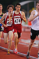 4 May 2008: Stanford Cardinal Russell Brown (474) and Garrett Heath (491) during Stanford's Payton Jordan Cardinal Invitational at Cobb Track & Angell Field in Stanford, CA.