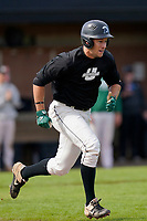 Julian Rip (34) of the University of South Carolina Upstate Spartans bats in the Green and Black Fall World Series Game 2 on Saturday, October 31, 2020, at Cleveland S. Harley Park in Spartanburg, South Carolina. Green won, 6-5. (Tom Priddy/Four Seam Images)
