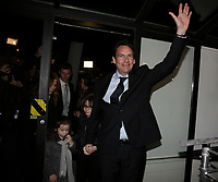 April 7, 2014 - Pierre-Karl Peladeau, Parti Quebecois candidate in Saint-Jerome and former CEO, Quebecor attend the election night in his riding with his kids and (separated) wife Julie Snyder.<br /> <br /> Peladeau has been nicknamed '' the man who wants to break Canada'' by Maclean's magazine.<br /> <br /> Photo : Raffi Kirdi