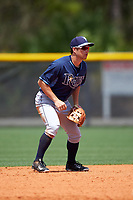 Tampa Bay Rays Brandon Lowe (5) during a minor league Spring Training game against the Boston Red Sox on March 23, 2016 at Charlotte Sports Park in Port Charlotte, Florida.  (Mike Janes/Four Seam Images)