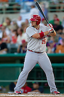 Matt Adams (25) of the Springfield Cardinals at bat during a game against the South All-Stars 2011 in the Texas League All-Star game at Nelson Wolff Stadium on June 29, 2011 in San Antonio, Texas. (David Welker / Four Seam Images)
