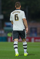 Nikolay Bodurov of Fulham during the Capital One Cup match between Wycombe Wanderers and Fulham at Adams Park, High Wycombe, England on 11 August 2015. Photo by Andy Rowland.
