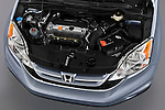 High angle engine detail of a 2010 Honda CRV EX .