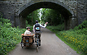 19/06/16 <br /> <br /> Matt and Charlotte Gospel from Richmond, North Yorkshire, ride a 1957 bicycle with side car which they added for their honeymoon.<br /> <br /> Competitors take part in the Eroica Britannia, a three day vintage bike festival in Bakewell, Derbyshire, which culminated in a choice of three rides of 30, 55 and 100 miles through the Peak District today.<br /> <br /> All Rights Reserved F Stop Press Ltd +44 (0)1335 418365