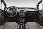 Stock photo of straight dashboard view of a 2014 Citroen C3 Seduction 5 Door Hatchback 2WD Dashboard