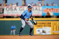 Tampa Bay Rays shortstop Willy Adames (27) during a Spring Training game against the Pittsburgh Pirates on March 10, 2017 at LECOM Park in Bradenton, Florida.  Pittsburgh defeated New York 4-1.  (Mike Janes/Four Seam Images)