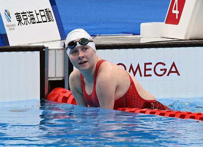 Danielle Dorris, Tokyo 2020 - Para Swimming // Paranatation.<br /> Danielle Dorris wins gold in the women's 50m butterfly // Danielle Dorris remporte l'or au 50m papillon femmes. 09/03/2021.