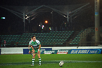 Manawatu's Brett Cameron kicks for goal during the 2021 Bunnings Warehouse Cup rugby match between Manawatu Turbos and Counties Manukau Steelers at CET Stadium in Palmerston North, New Zealand on Friday, 6 August 2021 Photo: Dave Lintott / lintottphoto.co.nz
