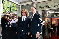DAVID LUIZ & ZLATAN IBRAHIMOVIC- 25eme Ceremonie des Trophees UNFP au Pavillon Gabriel