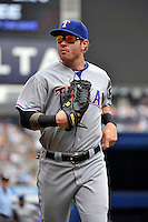 Texas Rangers outfielder Josh Hamilton #32 during a game against the New York Yankees at Yankee Stadium on June 16, 2011 in Bronx, NY.  Yankees defeated Rangers 3-2.  Tomasso DeRosa/Four Seam Images