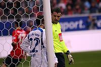 Jan Lastuvka im Gespräch mit Mimoun Azaouagh (Bochum)<br /> Eintracht Frankfurt vs. VfL Bochum, Commerzbank Arena<br /> *** Local Caption *** Foto ist honorarpflichtig! zzgl. gesetzl. MwSt. Auf Anfrage in hoeherer Qualitaet/Aufloesung. Belegexemplar an: Marc Schueler, Am Ziegelfalltor 4, 64625 Bensheim, Tel. +49 (0) 6251 86 96 134, www.gameday-mediaservices.de. Email: marc.schueler@gameday-mediaservices.de, Bankverbindung: Volksbank Bergstrasse, Kto.: 151297, BLZ: 50960101