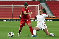 13th April 2021; Bet365 Stadium, Stoke, England; Georgia Stanway  England in action during the womens International Friendly match between England and Canada