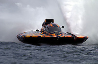 """Regates de Valleyfield, 6-8 July,2001 Salaberry de Valleyfield, Quebec, Canada.Copyright©F.Peirce Williams 2001.GP-101 """"Pavages Chenail, Grand Prix class hydroplane..F. Peirce Williams .photography.P.O.Box 455  Eaton, OH 45320.p: 317.358.7326  e: fpwp@mac.com"""