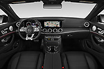 Stock photo of straight dashboard view of 2020 Mercedes Benz E-Class AMG-E53 4 Door Sedan Dashboard
